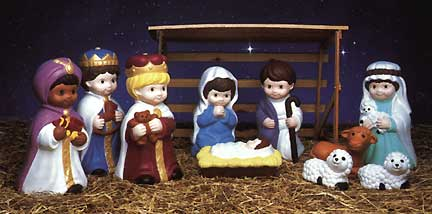 Outdoor lighted childrens nativity set childs scene general general foam plastics corp norfolk va empire of carolina enterprises inc tarboro nc mozeypictures Images